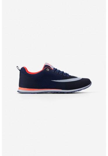 Buty sportowe 1 granatowo pomarańczowe Rémy