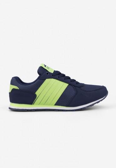 Buty sportowe granatowo-zielone Tano