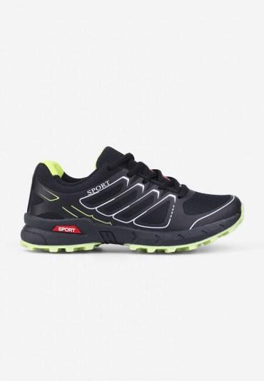 Buty sportowe 3 czarno-zielone Liane