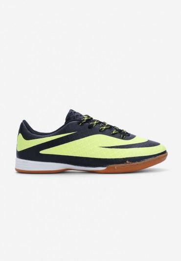 Buty sportowe czarne z zielonym  Royer