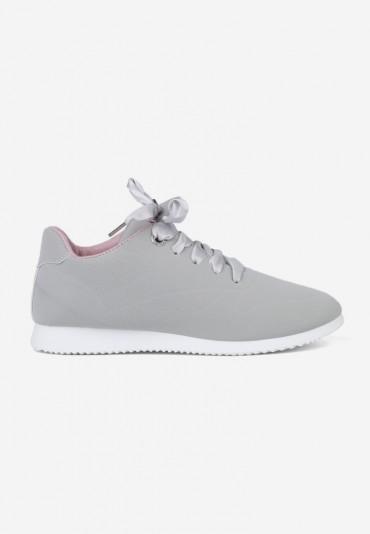 Buty sportowe szare z różowym 4 Baudin