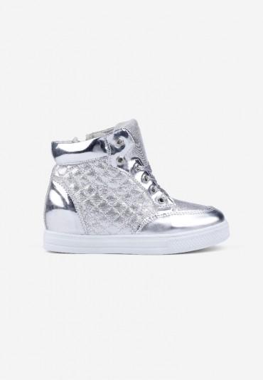 Sneakersy srebrne 3 Parris
