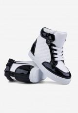 Sneakersy białe z czarnym 5 Parris