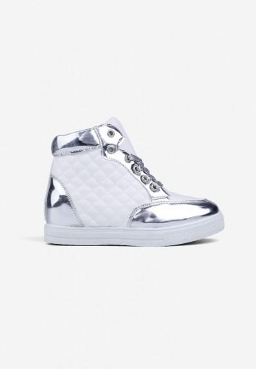 Sneakersy białe ze srebrnym 7 Parris