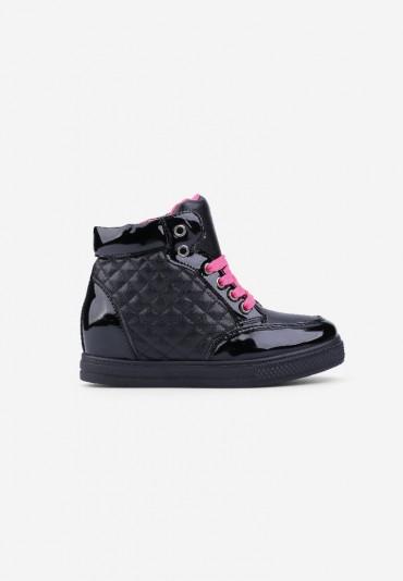Sneakersy czarne z różowym 8 Parris