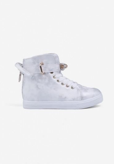 Sneakersy srebrne 9 Narcisse