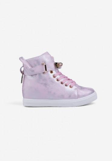 Sneakersy różowe ze srebrnym 11 Narcisse