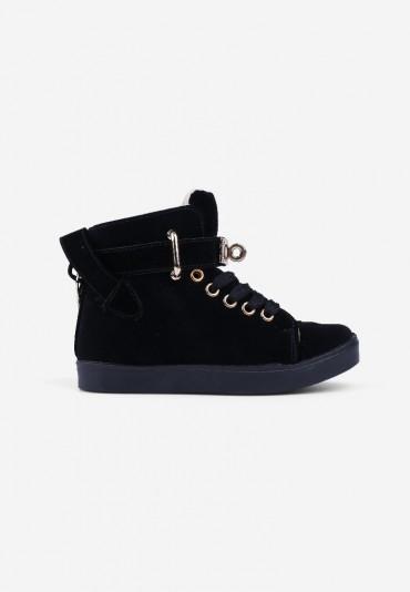 Sneakersy czarne zamszowe 2 Jules