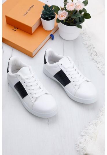 Buty sportowe 4 biało-czarne  Canali