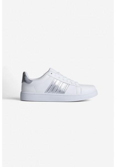 Buty sportowe biało-srebrne Canali
