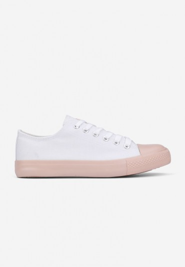 Trampki biało różowe-1 Martita