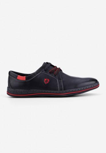 Półbuty czarno-czerwone 1 Philbert