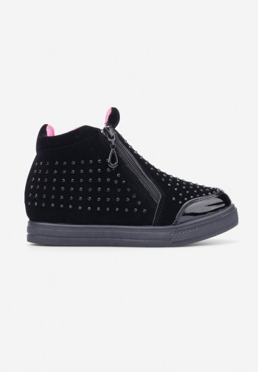 Sneakersy czarno-różowe-2 Peraza