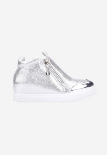 Sneakersy srebrne-3 Peraza