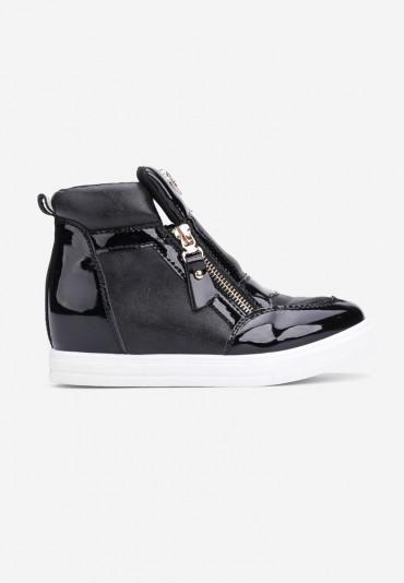 Sneakersy czarno-białe-1 Doncia