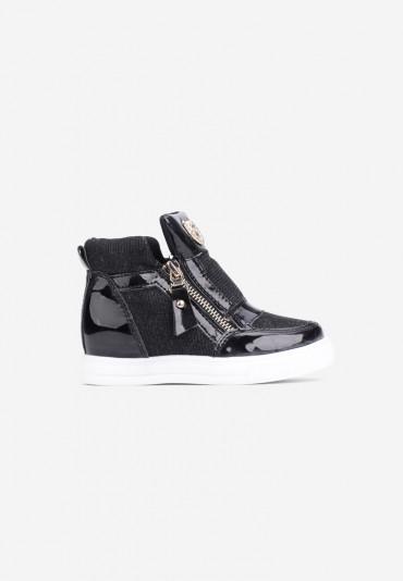 Sneakersy czarno-białe-1 Virginie