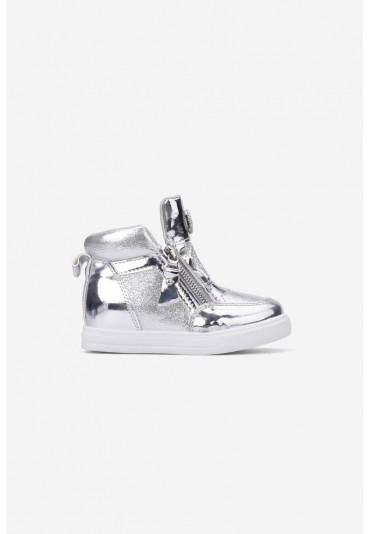 Sneakersy srebrne-3 Virginie