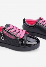 Trampki czarno-różowe-6  Adelle