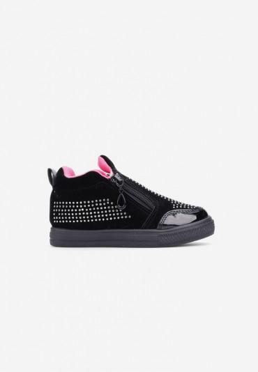 Sneakersy czarno-różowe-2  Marie