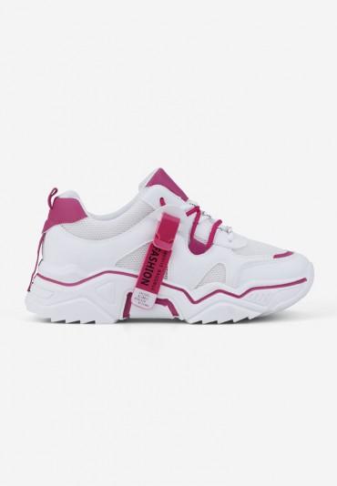 Sneakersy biało różowe 7 Lydie