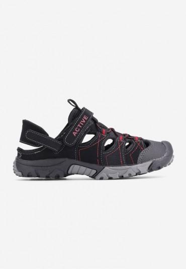 Sandały czarne 1  Boivin
