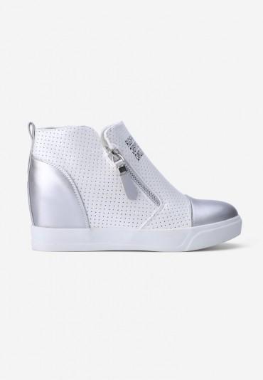 Sneakersy srebrne Théophile