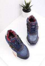 Półbuty granatowo jeansowe 3 Iefan