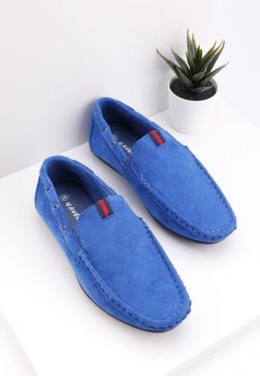 Mokasyny niebieskie 6 Ninon