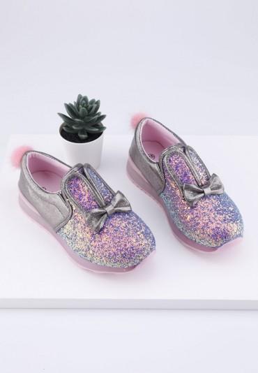 Buty sportowe różoweo szare 4 Dewi