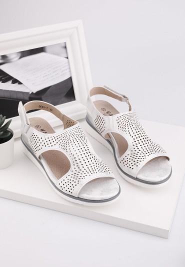 Sandały srebrne 7 Shone