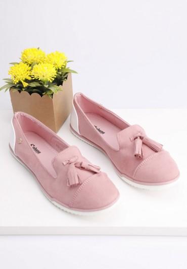 Lordsy-balerinki różowe 3 Tew