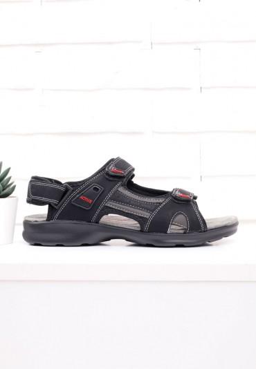 Sandały czarno czerwone 3 Gowon