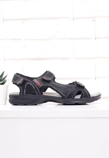 Sandały czarno czerwone 1 Sefu