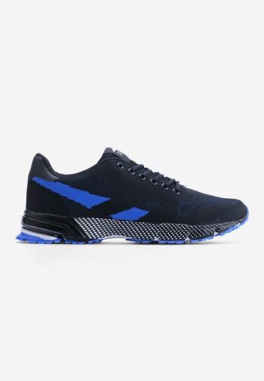 Buty sportowe czarno niebieskie 2 Aloys