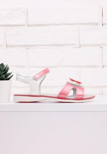 Sandałki różowo białe 4 Lowe
