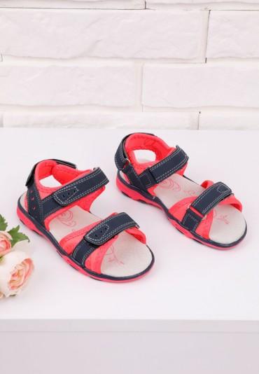 Sandałki granatowo różowe 1 Alison