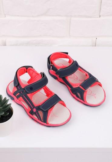 Sandałki granatowo różowe 1 Eddie