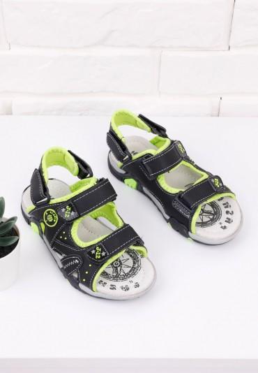 Sandałki czarno zielone 2 Burke
