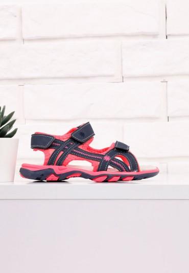Sandałki granatowo różowe 1 Vergil
