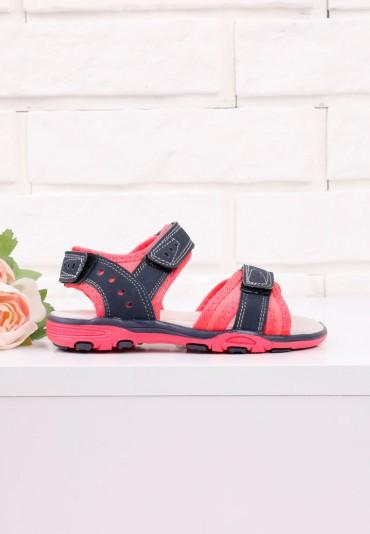 Sandałki granatowo różowe 1 Sophie