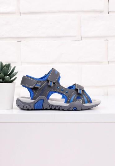 Sandałki szaro niebieskie 1 Bowman