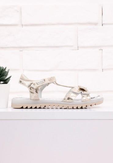 Sandałki złote 4 Gina