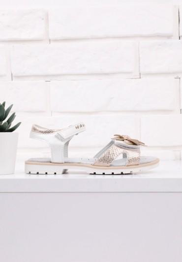 Sandałki biało złote 4 Olson