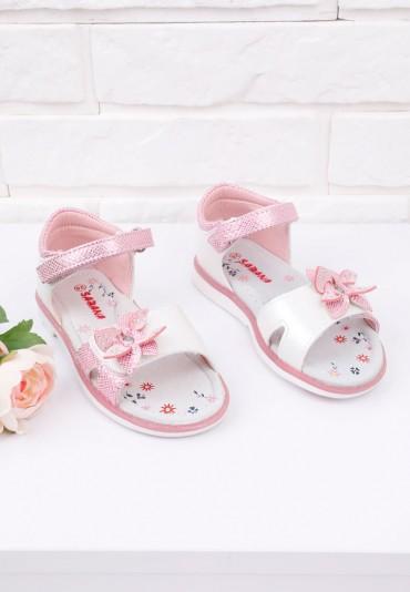 Sandałki różowe 1 Ortega