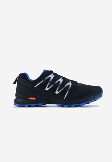 Buty sportowe czarno niebieskie-2 Dion