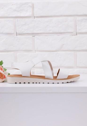 Sandały białe na płaskie 4 Garza