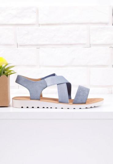 Sandały niebieskie na płaskie 8 Garza