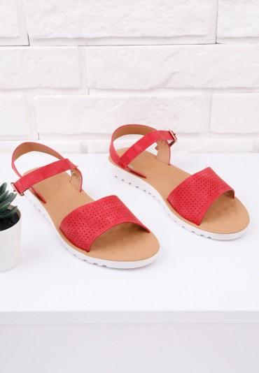 Sandały czerwone 10 Sarratt