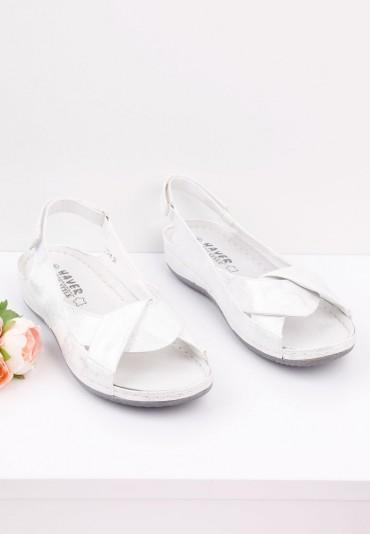Sandały srebrne 4 Bates